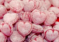 Glühweinbonbon-Herzchen